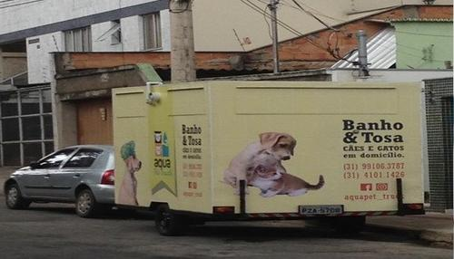 AquaPet Truck dá banho e tosa no seu pet na porta de casa